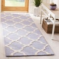 Handmade Cambridge Moroccan Lavender Wool Rug
