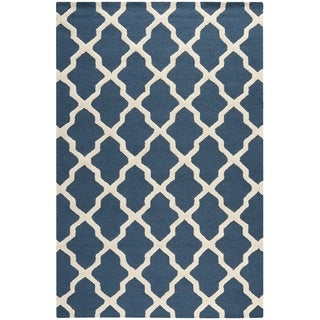 Safavieh Handmade Moroccan Cambridge Blue Wool Rug