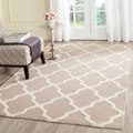 Handmade Cambridge Moroccan Beige Wool Rug