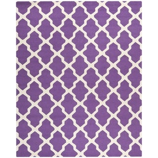 Safavieh Handmade Cambridge Moroccan Purple Wool Rug