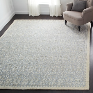 Safavieh Handmade Moroccan Cambridge Light Blue Wool Rug