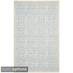 Safavieh Handmade Cambridge Moroccan Light Blue/ Ivory Rug (2' x 3')
