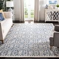 Handmade Cambridge Moroccan Navy Blue Wool Rug