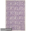Safavieh Handmade Moroccan Cambridge Purple Wool Rug