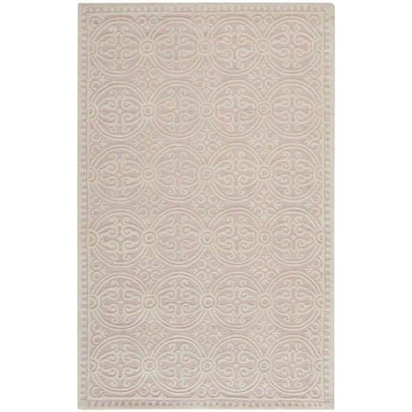 Safavieh Handmade Cambridge Moroccan Light Pink/ Ivory Rug (2' x 3')