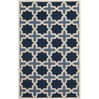 Handmade Cambridge Moroccan Light Blue Wool Rug