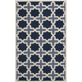 Traditional Handmade Cambridge Moroccan Light Blue Wool Rug