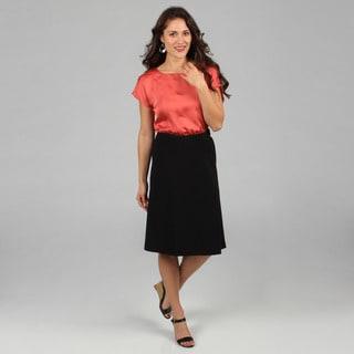 Celebrating Grace Women's Black A-line Skirt