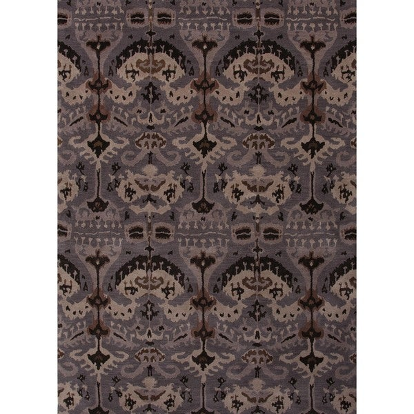 Hand-tufted Transitional Gray Wool Rug (8' x 11')
