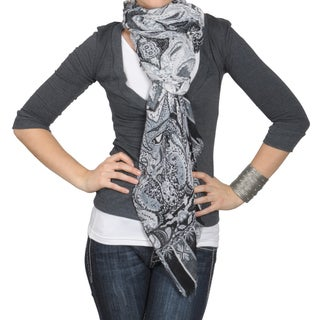 Journee Collection Women's Print Fringed Scarf