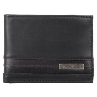 Geoffrey Beene Men's Genuine Leather Slim Passcase Wallet