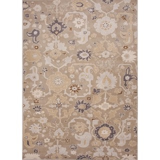 Hand-tufted Transitional Floral Gray Wool Rug (9'6 x 13'6)