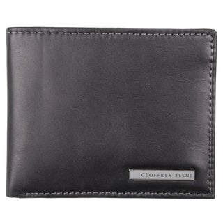 Geoffrey Beene Men's Black Genuine Leather Passcase Bi-Fold Wallet