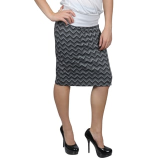 Tressa Designs Women's Stretchy Chevron Print Pencil Skirt