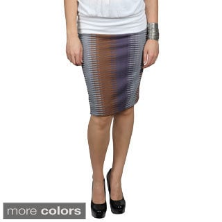 Tressa Designs Women's Stretchy Print Pattern Pencil Skirt