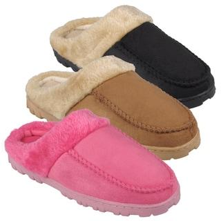 Journee Collection Womens Lug Sole Sueded Slipper