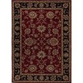 Hand-tufted Traditional Oriental Red Wool Area Rug (8' x 10')