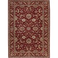 Hand-tufted Traditional Burgundy Wool Rug (10' Round)