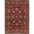 Hand-tufted Traditional Red Wool Runner (3' x 12')