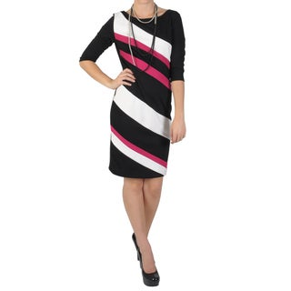 Sangria Women's Half-sleeve Ponte Sheath Dress