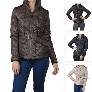Journee Collection Juniors Quilted Trench Jacket