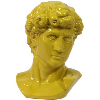 Urban Trends Collection 12-inch Yellow Ceramic Man Bust