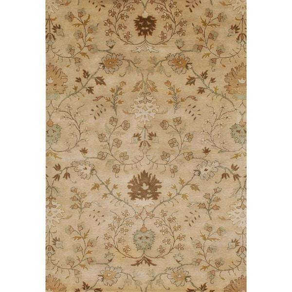 Hand-tufted Transitional Beige/ Brown Wool Runner (2'6 x 8')