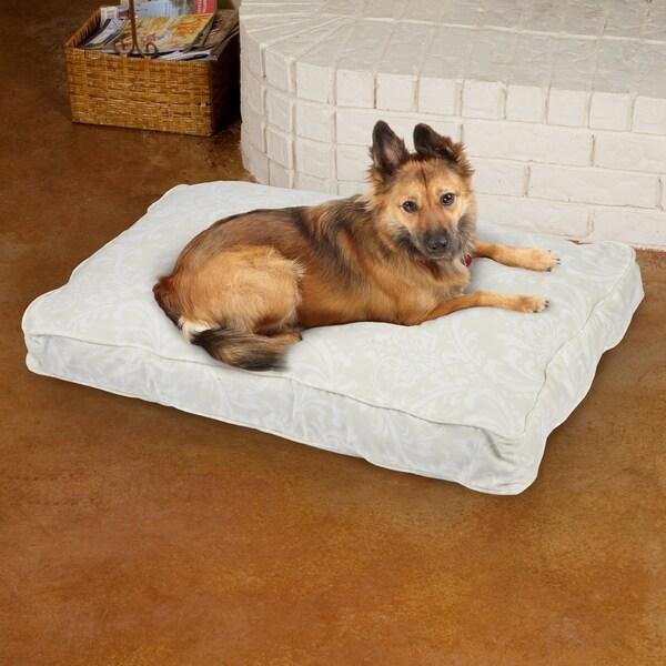 Sweet Dreams Beige Damask Corded Pet Bed