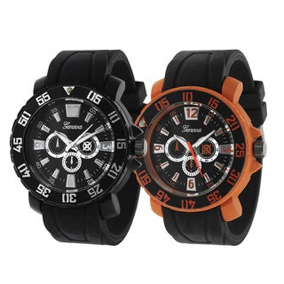 Geneva Platinum Silicone Watch