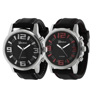 Geneva Platinum Topstitched Silicone Watch
