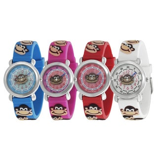 Geneva Platinum Kid's Monkey Design Silicone Watch