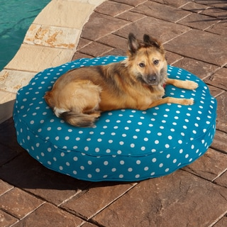 Sweet Dreams Blue/ White Dot Indoor/ Outdoor Round Corded Pet Bed