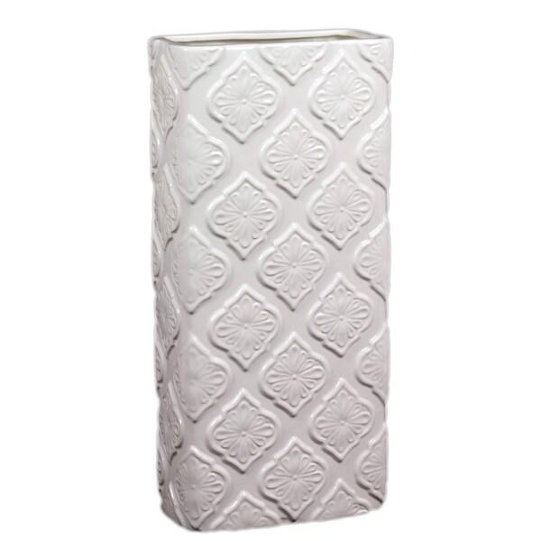 Urban Trends Collection 19-inch White Ceramic Vase