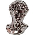 Urban Trends Collection 12-inch Silver Ceramic Man Bust