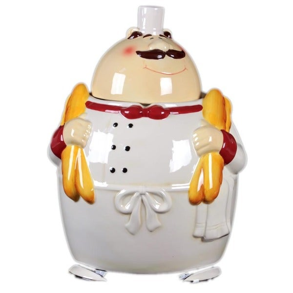 Urban Trends Collection 11-inch Ceramic Chef Canister