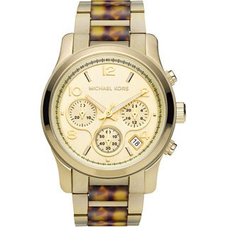 Michael Kors Women's MK5659 Runway Tortoise Watch