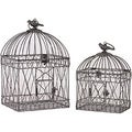 Urban Trends Collection Decorative Metal Bird Cages (Set of 2)