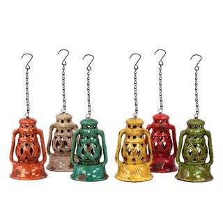 Urban Trends Collection Assorted Ceramic Lanterns (Set of 6)