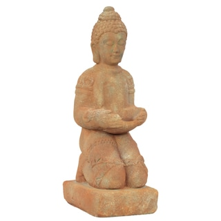 Urban Trends Collection Stone Kneeling Buddha Accent Piece