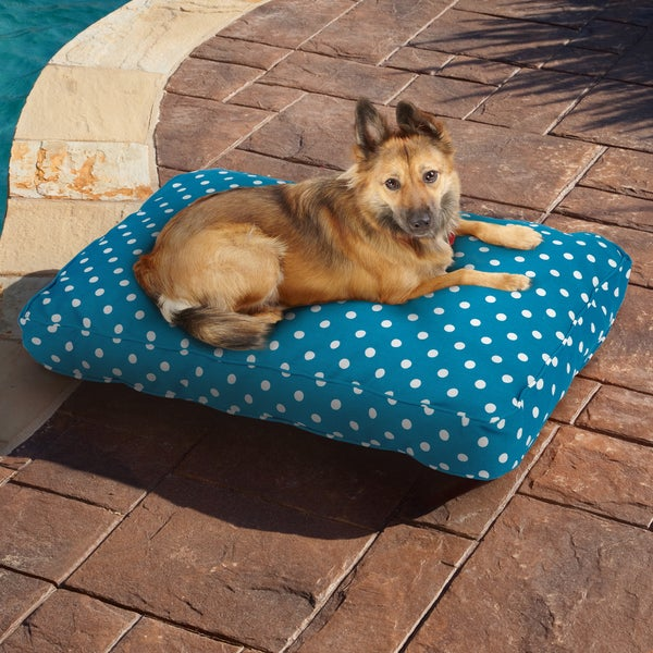Sweet Dreams Blue/ White Dot Indoor/ Outdoor Pet Bed