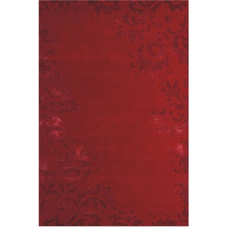 Jovi Home Rosewood Hand tufted 5 x 8 Foot Red Rug