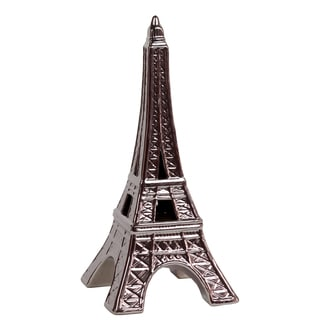 Silver Ceramic Eiffel Tower