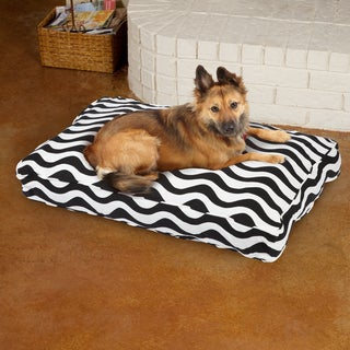 Sweet Dreams Black/ White Stripe Corded Pet Bed