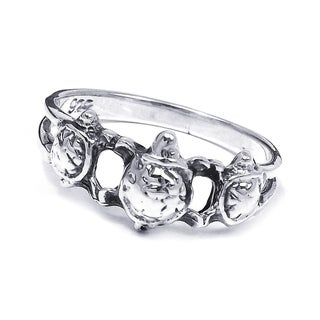 Cute Triple Sea Turtle .925 Silver Ring (Thailand)