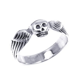 Funky Skull Wing Wrap .925 Silver Ring (Thailand)