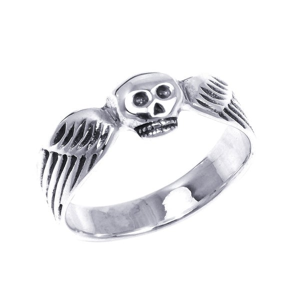 Funky Skull Wing Wrap .925 Silver Ring (Thailand) 10349100