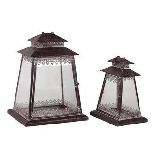 Urban Trends Collection Metal Lanterns (Set of 2)