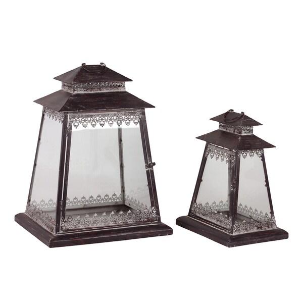 Urban Trends Collection Metal Lanterns (Set of 2)