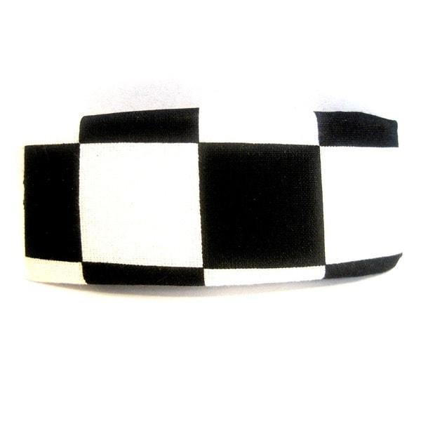 Crawford Corner Shop Black and White Checkered Barrette