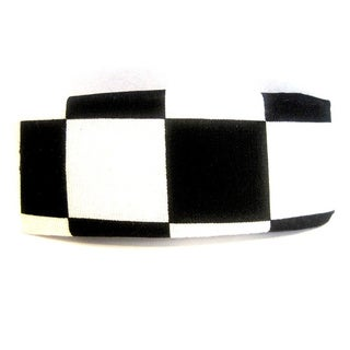 Crawford Corner Shop Black and White Checkered Barrette